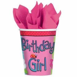 GOBELETS CARTON GARDEN GIRL Birthday Girl
