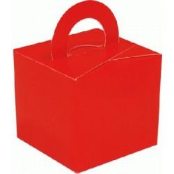 Rouge boite bouquets ballons et centres table et cadeaux,