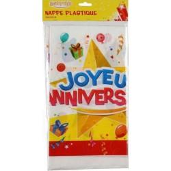 NAPPE PLASTIQUE JOYEUX ANNIVERSAIRE Joyeux Anniversaire