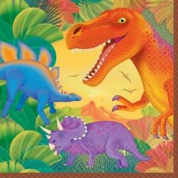 SERVIETTES DINO MOYENNES Dinosaures