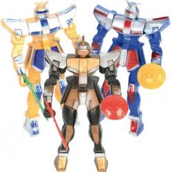 4 Robots articulés avec armes 11cm