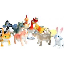 10 animaux de la ferme humoristique 5cm