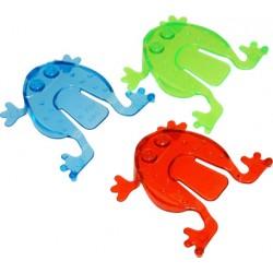 3 grenouilles sauteuses plastique 6cm