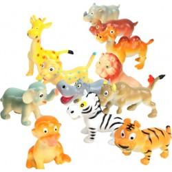 10 animaux de la jungle humoristique 5 cm