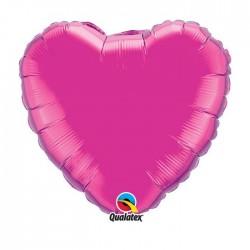 1 ballon mylar métal coeur fuschia 45 cm