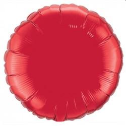 ballon mylar métal rond rouge22634 QUALATEX Rond 45 cm mylar