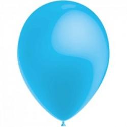 BLEU CIEL ballons PERLE METAL 25 cm diamètre POCHE DE 100 BWS 25 cm Métallisé (pour décoration air ou hélium )