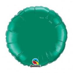 ballon mylar métal rond vert22633 QUALATEX Rond 45 cm mylar