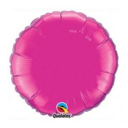 ballon mylar métal rond fuschia99336 QUALATEX Rond 45 cm mylar