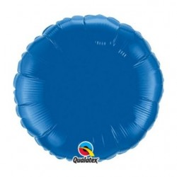 ballon mylar métal rond bleu SAPHIR