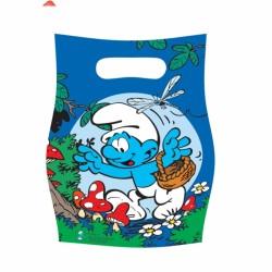 6 sachets pour confiserie ou petits jouets Schtroumpf