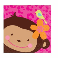 SERVIETTES MONKEY LOVE PETITES