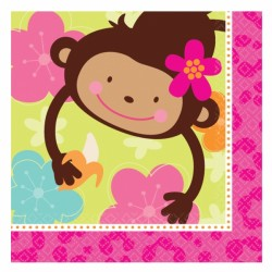 SERVIETTES MONKEY LOVE MOYENNE