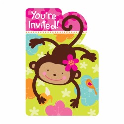 INVITATIONS MONKEY LOVE Singe Amoureux