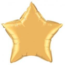 étoile mylar métal or 50 cm35433 QUALATEX Etoiles 50 Cm