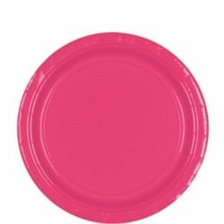 Assiettes carton 22,9 cm rose vif