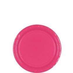 assiettes petites carton 17,8 cm rose vif