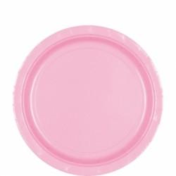 Assiettes carton 22,9 cm rose pastel