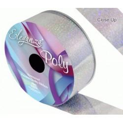 ruban bolduc large holographique argent 50 mm *25M