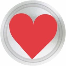 8 assiettes Love 17.8 CM