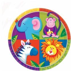 ASSIETTES JUNGLE 22.8 CM Safari Ballons Et Decorations