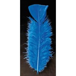 poche de 50 plumes bleu pieds plat 10 cm