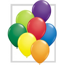 25 ballons qualatex 28 cm opaque assortis carnaval