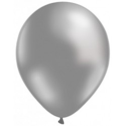 Argent ballons métalisé nacré 25 cm diamètre BWS 25 cm Métallisé (pour décoration air ou hélium )