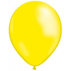 JAUNE CITRON ballons métallisé nacré 25cm diamètre poche de 100 BWS 25 cm Métallisé (pour décoration air ou hélium )