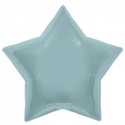 Etoile bleu pastel perlé mylar 55 cm
