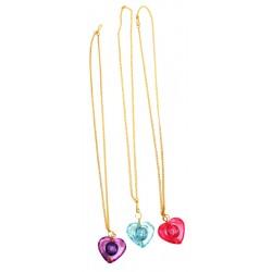 3 colliers coeur sur chaine