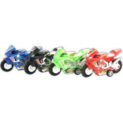 4 MOTOS SPORT 10 CM RETROFRICTION 4 COUL