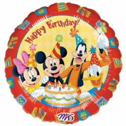 Mickey Happy birthday ballon mylar rond