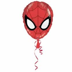 spiderman ballon mylar forme 45 cm à plat