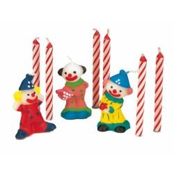 3 Bougies clown + 6 bougies roses642515bougie Bougies
