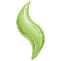 Curve ballons mylar vert anis 38 cm