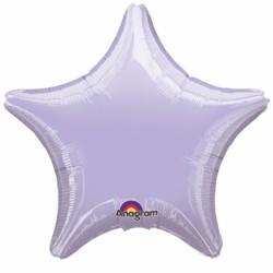 Etoile mylar lilas 80 cm de diamètre non gonflée