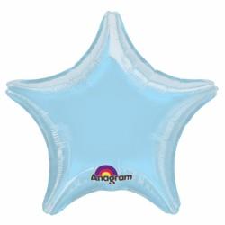 Etoile mylar pastel bleu 80 cm