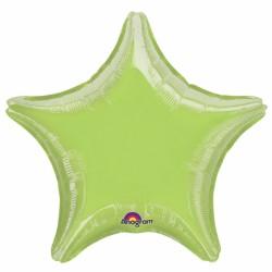 Etoile mylar vert anis 80 cm de diamètre non gonflée