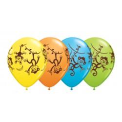 les singes imprimés ballons baudruche Safari Ballons Et Decorations