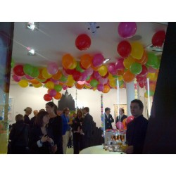 100 ballons gonflés hélium sans fil bolduc IDF
