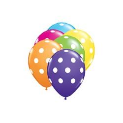 ballons polka dot tropical 12.5 cm qualatex par 25