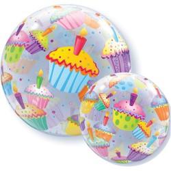 bubble ballon cupcake
