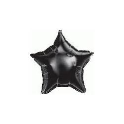 etoile mylar noir 10 cm envergure