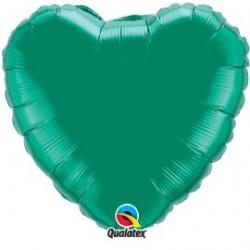 micro coeur vert emeraude 10 cm QUALATEX Micros Coeurs 10 cm Couleurs Unis (air)