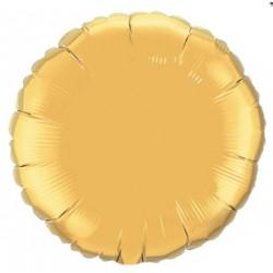 mylar rond or 23 cm de diamètre36335 QUALATEX Rond Mylar 23 Cm Couleurs Unis