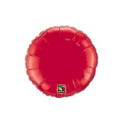 mylar rond rouge 23 cm de diamètre23358 QUALATEX Rond Mylar 23 Cm Couleurs Unis