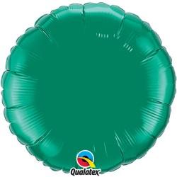 mylar rond vert emeraude 23 cm de diamètre QUALATEX Rond Mylar 23 Cm Couleurs Unis