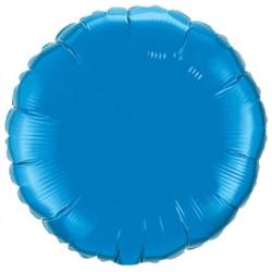 mylar rond bleu saphir 23 cm de diamètre