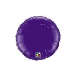 mylar rond violet 23 cm de diamètre